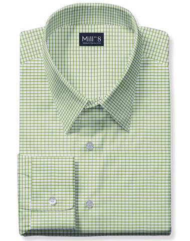 The Wabash Dress Shirt in Green Gingham