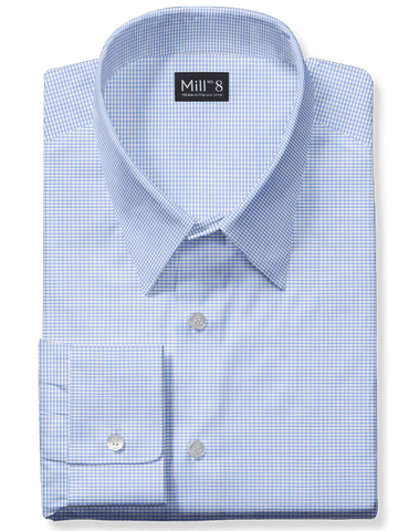 The Wabash Dress Shirt in Hippie Blue Check