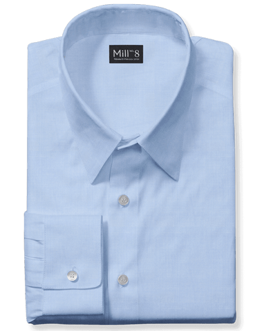 The Wabash Dress Shirt in Light Blue Herringbone