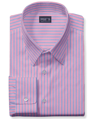The Wabash Dress Shirt in Pink Stripe