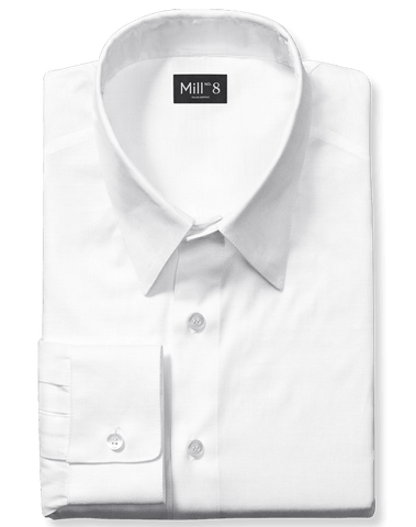 Dress Shirt in Royal Oxford White