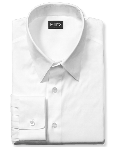 Dress Shirt in Solid White