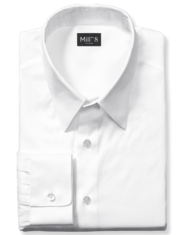 Dress Shirt in Textured White