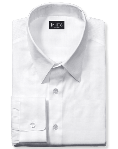 Dress Shirt in White Oxford