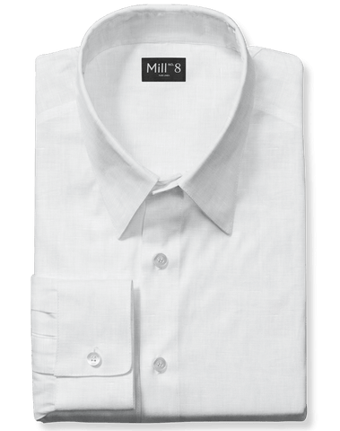 Dress Shirt in White Linen