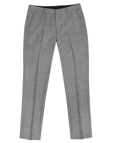 The Randolph Dress Pants in Grey Windowpane