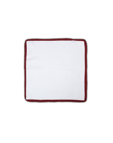 Men's Pocket Squares in Classic White