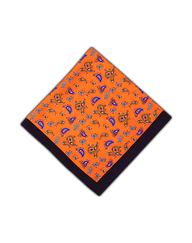 Men's Pocket Squares in Flashy Mango Prints