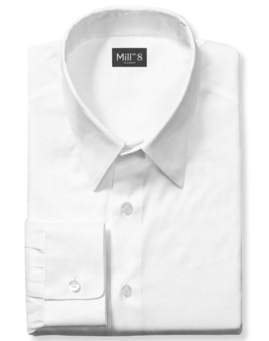 Dress Shirt in White Broadcloth