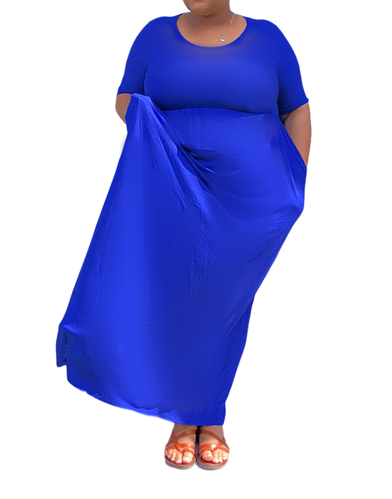 Plus Size Green Maxi Dress with Pockets | 817 West | Charlotte, NC
