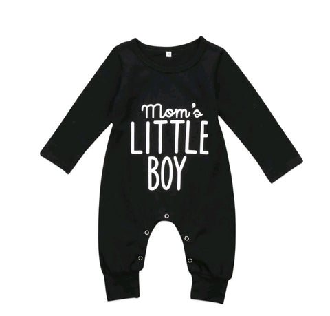 Mom's little boy one piece romper