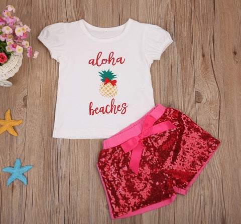 Aloha Beaches 2pc short set