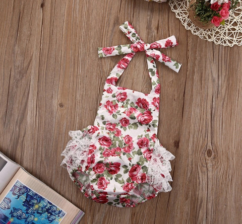 Beautiful Floral Baby Romper