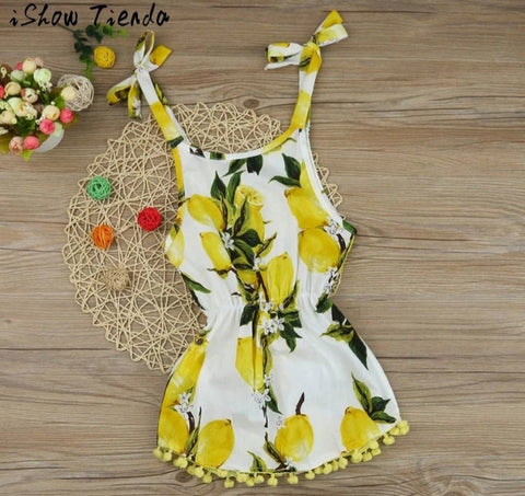 Lemon Print Summer Dress