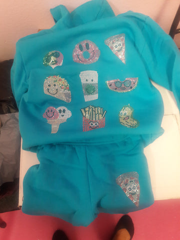 Super Soft by Butter Bling Food Sweatsuit