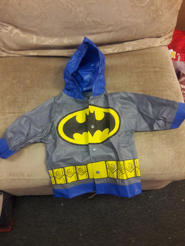Boys Batman or Superman Raincoat