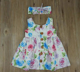 Floral Summer Dress with Headband