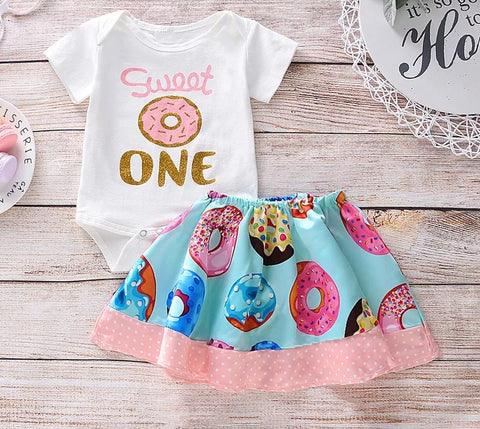 Donut First Birthday 2pc Set