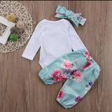 Floral 3pcs Romper Set