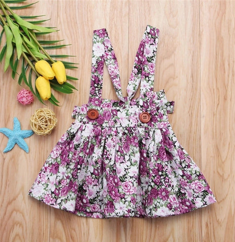 Floral Suspender Dress