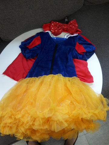 Snow White Velvet Dress with Headband