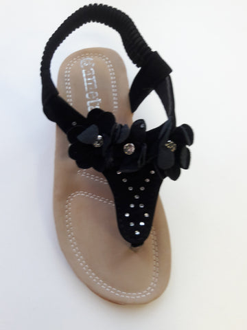 Black Cushioned Sandals