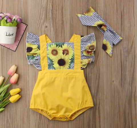 Sunflower Romper 2pc