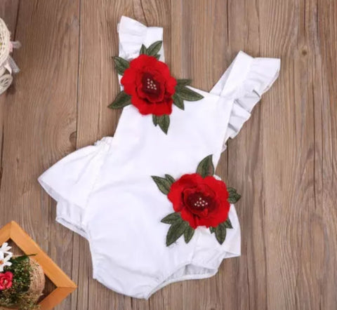 3D Rose Rompers