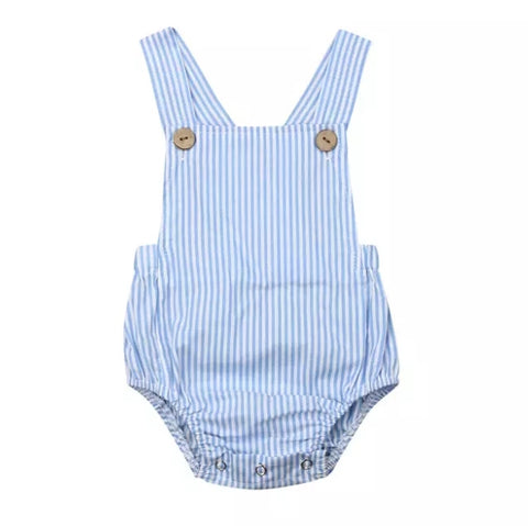 Striped Blue Romper