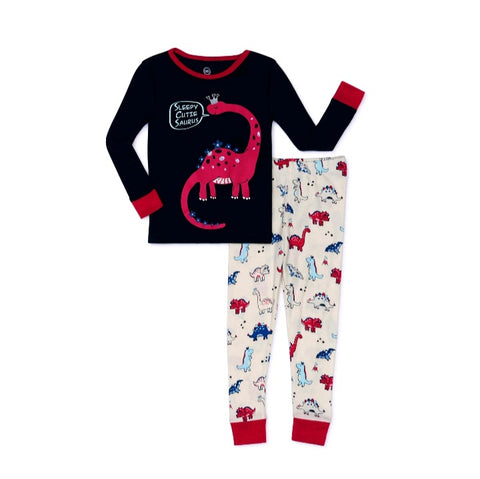 Dinosaurs Snug Fit 2pc Pajamas