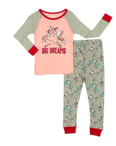 Unicorn Big Dreams 2pc Pajamas