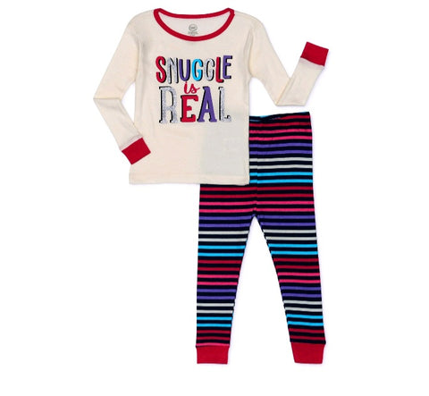 Snuggle is real Snug Fit 2pc Pijama Set