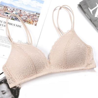 Sexy Lace Bras For Women Push Up Lingerie Seamless Bra Ultra thin Cup Bralette Bh Transparent Brassiere Female Underwear #F - Shopperstrail