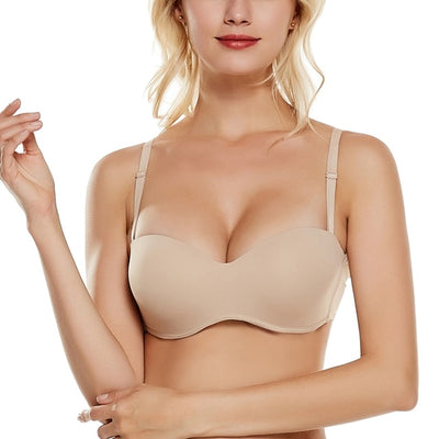 Beauwear Summer Fashion Demi Bra Seamless Underwired Strapless Bras Breathable Solid Sexy Lingerie Wedding Cozy Invisible Bras - Shopperstrail