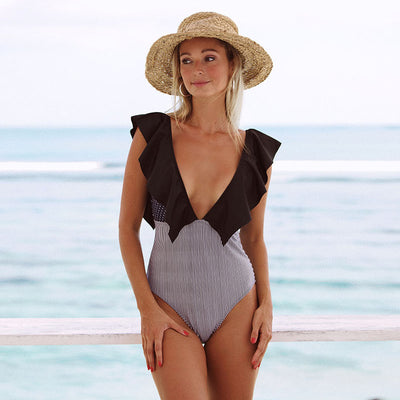 2019 Sexy Solid Yellow One Piece Swimsuits For Female One Shoulder Women Swimwear Push Up Bathing Suits Bodysuits Beach wear - Shopperstrail