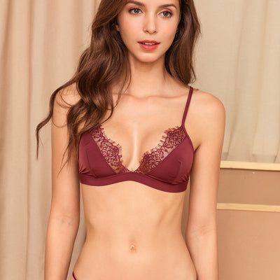 Sexy Floral Lace Bra For Women Adjusted Straps Female Lingerie Comfortable breathable Soft Bralette Thin Seamless underwear bras - Shopperstrail