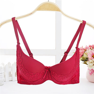 3/4 Thick Paded Push Up Bras Brand Quality Lace Seamless Underwear for Woman Sexy Lace Push Up Lingerie Bras for Small Breast - Shopperstrail