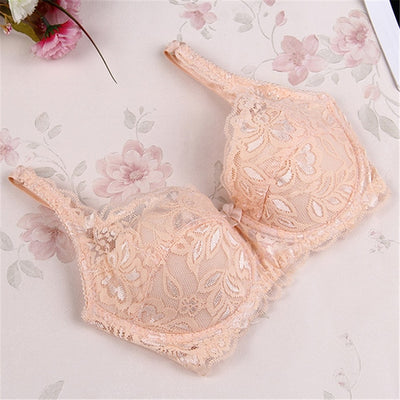 Sexy Floral Lace Padded Bra Thin ralette bras for women Adjuted Underwear Women Lace Bra Brassiere Sexy Lingerie - Shopperstrail