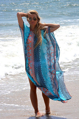 Hirigin Beach Dress Kaftan Beach Sarongs Cover-Up Chiffon Bikini Swimwear Tunic Swimsuit Bathing Suit Cover Ups Pareo - Shopperstrail