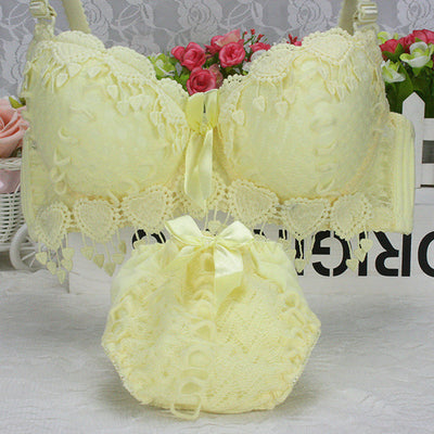 Hot Sale Women Underwear Set Cotton Bra Panty Set Brand Embroidery Tassel Sexy Lingerie Brassiere Sets Push Up bra brief sets - Shopperstrail
