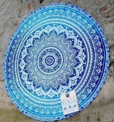 Round Beach Towel Ethnic Style Print Indian Mandala Tapestry Hippie Wall Hanging Boho Yaga Mat Sea Beach Trip Sunbathing Need - Shopperstrail