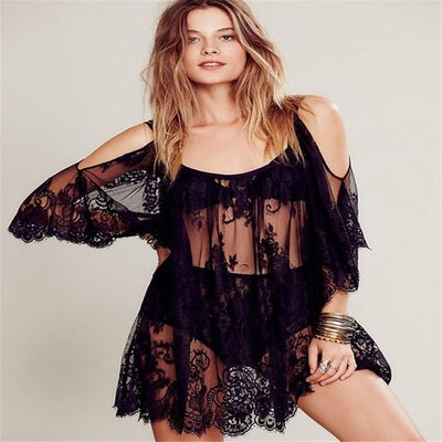 2018Beach Cover Up Floral Embroidery Bikini Cover Up Swimwear Women Robe De Plage Beach Cardigan Bathing Suit Cover Ups Rated - Shopperstrail