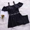 Black Two Pieces Swimwear Slender