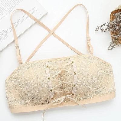 Sexy Women Underwear Lingerie Strapless Bra for Wedding Dress Push Up Lace Invisible Bra Backless Brassiere BH - Shopperstrail