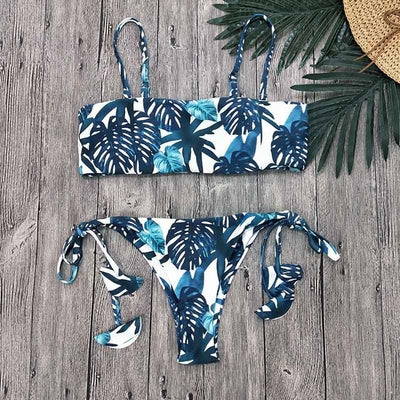 2019 Sexy Bikini Swimwear Women Swimsuit Push Up Biquini Brazilian Bikini Set Tie Up Summer Beach Wear Print Bathing Suit Female - Shopperstrail