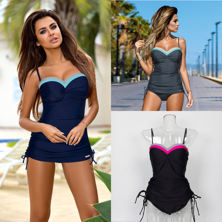 Women Two Piece Swimwear Tankini Sexy Bandeau Push Up Bikinis Summer Vacation Bathing Suit Beachwear Mailot De Bain Swim Wear - Shopperstrail