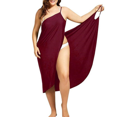 Women Beach Dress Sexy Sling Becah Wear Dress Sarong Bilini Cover Up Warp Pareo Dresses Towel Backless  Swimwear Femme Plus Size - Shopperstrail