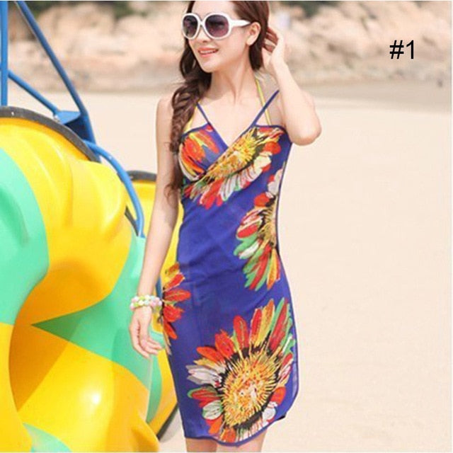 Women Sexy Sling Swim Skirt Beach Dress