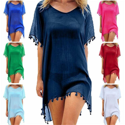 Women Beach Cover Up Lace Hollow Crochet Swimsuit Beach Dress Women 2019 Summer Ladies Cover-Ups Bathing Suit Beach Wear Tunic - Shopperstrail