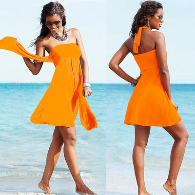 BFUSTYLE Sexy beach cover up beach dress pareo tunics for beach Bathing Swim Suit Female Beach Wear Bandage Swim - Shopperstrail